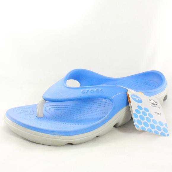 9a86f18d1e49 Nwt Crocs Unisex Duet Sport Flip Flop Slippers